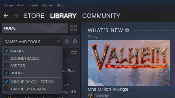 valheim dedicated server steam library